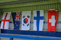 General view of  flags in the ground ahead of Chelsea Women vs Manchester City Women, FA Women's Super League FA WSL1 Football at Kingsmeadow on 9th September 2018