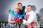 Traders Wars-Battle of the Businesses takes place on the 18th of July, getting ready for battle was Steve Smith(Ploughman Bar), Grace Harnett(Rock Hair Sissors) and Andy Roche(Butcher) pictured last Friday night in Riordan's Bar for the launch of Gather by the Feale