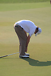 Rory McIlroy not happy with his putt on the 13th during the final round of the Dubai World Championship on the Earth Course at the Jumeirah Golf Estate, Dubai..Picture Fran Caffrey/www.golffile.ie.