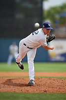 Charlotte Stone Crabs relief pitcher Alex Valverde (32) during a Florida State League game against the Palm Beach Cardinals on April 14, 2019 at Charlotte Sports Park in Port Charlotte, Florida.  Palm Beach defeated Charlotte 5-3.  (Mike Janes/Four Seam Images)