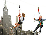 Erin Richards and Ben McKenzie at the Gotham Zip Line at Comic-Con 2014 in San Diego, Ca. July 26, 2014.