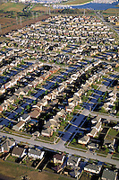 Suburb ; Aerial ; residential ; neighborhood ; subdivision ; development ; real estate ;. Houston Texas.