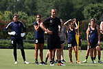 CARY, NC - JUNE 29: From left: Katelyn Rowland, Lynn Williams, Scott Vallow, Samantha Witteman, and Elizabeth Eddy. The North Carolina Courage held a training session on June 29, 2017, at WakeMed Soccer Park Field 6 in Cary, NC.