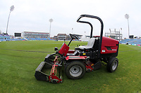General view of the mower during Yorkshire CCC vs Essex CCC, Specsavers County Championship Division 1 Cricket at Emerald Headingley Cricket Ground on 14th April 2018