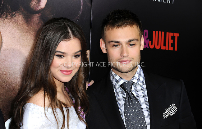 WWW.ACEPIXS.COM<br /> <br /> September 24 2013, LA<br /> <br /> Douglas Booth and Hailee Steinfeld arriving at the world premiere of 'Romeo and Juliet' at the ArcLight Hollywood on September 24, 2013 in Hollywood, California.<br /> <br /> <br /> By Line: Peter West/ACE Pictures<br /> <br /> <br /> ACE Pictures, Inc.<br /> tel: 646 769 0430<br /> Email: info@acepixs.com<br /> www.acepixs.com
