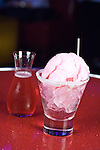 "The drink ""Candy"" at the nightclub fuse in Nashville at the Opryland Resort. It contains Bicardi Limon, lemon juice, cranberry and cotton candy."