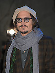 "HOLLYWOOD, CA. - February 19: Johnny Depp attends the ""Alice In Wonderland"" Great Big Ultimate Fan Event at Hollywood & Highland Courtyard on February 19, 2010 in Hollywood, California."