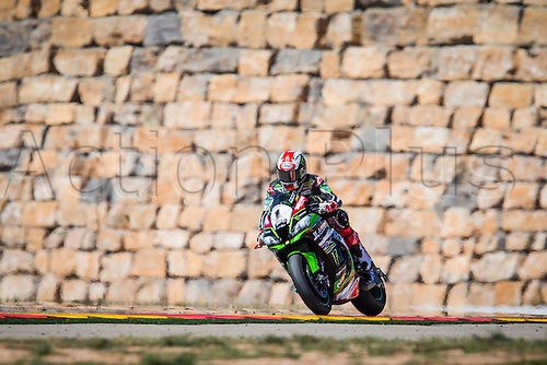 02.04.2016. Motorland, Aragon, Spain. World Championship Motul FIM of Superbikes. Jonathan Rea #1, Kawasaki ZX-10R rider of Superbike  in action during the race  in the World Championship Motul FIM of Superbikes from the Circuito de Motorland.