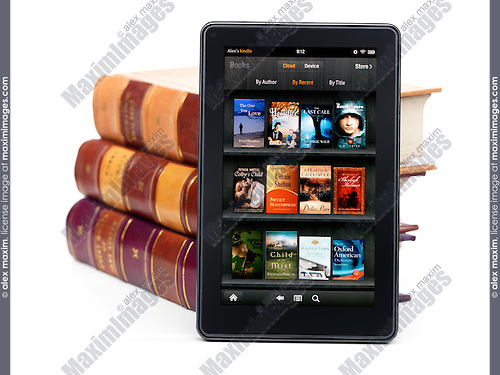 Amazon Kindle Fire leaning against books   Fashion, Commercial, Fine