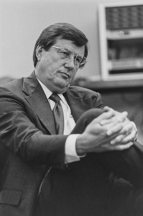 Rep. Bill Thomas, R-Calif., waits to testify before Joint Committee on the Organization of Congress on June 21, 1993. (Photo by Laura Patterson/CQ Roll Call via Getty Images)