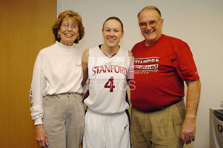 17 December 2005: Locker sponsors with Clare Bodensteiner taken after Stanford's 83-53 win over Rice at Maples Pavilion in Stanford, CA.