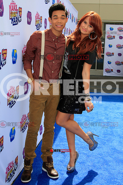 Debby Ryan, Roshon Fegan at the the 'Make Your Mark: Shake It Up Dance Off 2012' at LA Center Studios in Los Angeles, California on 7.10.2012..Credit: Martin Smith/face to face / MediaPunch Inc.  ***online only for weekly magazines*** /©NortePhoto