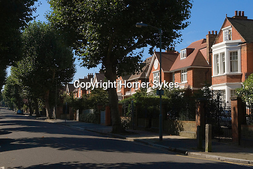 Putney south west London UK 2007. Gwendolen Avenue. Typical large expensive private homes.
