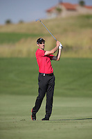 Ross Fisher (ENG) plays second shot to the last during Round Two of The Tshwane Open 2014 at the Els (Copperleaf) Golf Club, City of Tshwane, Pretoria, South Africa. Picture:  David Lloyd / www.golffile.ie