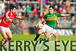 David Moran Kerry in action against Conor Dorman Cork in the National Football League at Pairc Ui Rinn, Cork on Sunday.