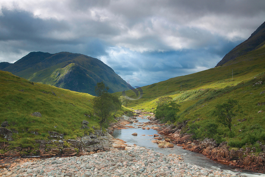 The River Etive and Ben Starav, Glen Etive, Highland