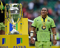 Salesi Ma'afu of Northampton Saints looks pleased with himself after winning the Aviva Premiership Rugby Final at Twickenham Stadium on Saturday 31st May 2014 (Photo by Rob Munro)