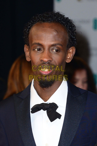 LONDON, ENGLAND - FEBRUARY 16:  Barkhad Abdi attends EE British Academy Film Awards (BAFTAs) at Royal Opera House, Covent Garden, on February 16, 2014, in London, England.  <br /> CAP/JOR<br /> &copy;Nils Jorgensen/Capital Pictures