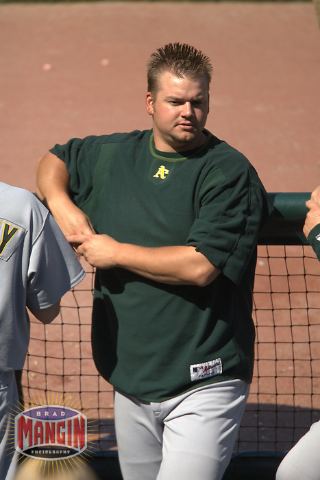 Joe Blanton. Baseball: Oakland Athletics vs San Francisco Giants at AT&T Park in San Francisco, CA on June 25, 2006. Photo by Brad Mangin