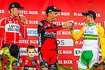 Podium 1st Philippe Gilbert (BEL,BMC), 2nd Jelle Vanendert (BEL,LTB), 3rd Simon Gerrans (AUS,OGE) at Valkenburg, Amstel Gold Race, 20th April 2014, Photo by Thomas van Bracht / www.pelotonphotos.com