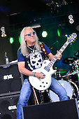 URIAH HEEP - guitarist Mick Box - performing live on Day One of the Ramblin' Man Fair in Mote Park Maidstone Kent UK - 23 Jul 2016. Photo credit: Zaine Lewis/IconicPix