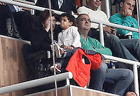 Football star Diego Armando Maradona with his new girlfriend Rocio Geraldine Oliva during La Liga match.March 02,2013.(ALTERPHOTOS/Acero) /NortePhoto