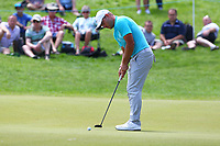 Jordan Smith on the 3rd green during the BMW PGA Golf Championship at Wentworth Golf Course, Wentworth Drive, Virginia Water, England on 25 May 2017. Photo by Steve McCarthy/PRiME Media Images.