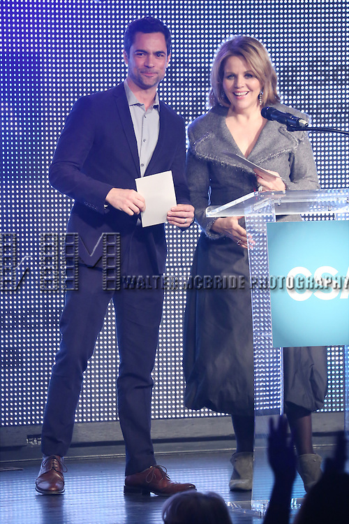 Danny Pino and Renee Fleming during the 30th Annual Artios Awards Presentation at 42 WEST on January 22, 2015 in New York City.