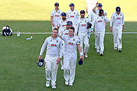 Simon Harmer and Peter Siddle lead off the victorious Essex team during Worcestershire CCC vs Essex CCC, Specsavers County Championship Division 1 Cricket at New Road on 13th May 2018