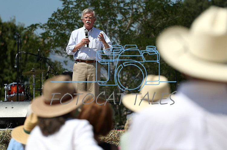 Ambassador John Bolton speaks at the second annual Basque Fry in Gardnerville, Nev., on Saturday, Aug. 20, 2016. The Republican rally and Basque-themed barbeque draws more than 1,000 people. Cathleen Allison/Las Vegas Review-Journal