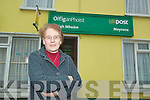 Moyvane post mistress Bridie Sheehan, who is retiring from her position at the end of April after over 40 years in the Moyvane office.