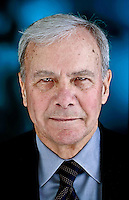 Author and former NBC News anchor Tom Brokaw's latest bestseller, Boom! Voices of the Sixties: Personal Reflections on the í60s and Today, examines the 1960s and the Baby Boom Generation. Photographed in the P-I studio Dec. 11, 2007. (Photo by Andy Rogers)