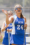 Los Angeles, CA 04/18/10 - Emilia Norlin (UCSB # 24) during the introduction before the 2010 WWLL Championship game between Santa Clara and UCSB.