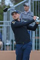 Austin Cook (USA) watches his tee shot on 10 during Round 3 of the Valero Texas Open, AT&amp;T Oaks Course, TPC San Antonio, San Antonio, Texas, USA. 4/21/2018.<br /> Picture: Golffile   Ken Murray<br /> <br /> <br /> All photo usage must carry mandatory copyright credit (&copy; Golffile   Ken Murray)
