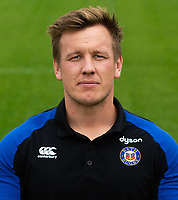 Louis Messer of Bath Rugby poses for a portrait. Bath Rugby Media Day on August 14, 2018 at Farleigh House in Bath, England. Photo by: Patrick Khachfe / Onside Images