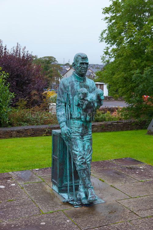 Statue of Irish polar explorer Tom Crean, Annascaul, Dingle Peninsula, Co. Kerry, Ireland