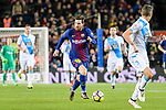 Lionel Messi of FC Barcelona (C) runs with the ball during the La Liga 2017-18 match between FC Barcelona and Deportivo La Coruna at Camp Nou Stadium on 17 December 2017 in Barcelona, Spain. Photo by Vicens Gimenez / Power Sport Images