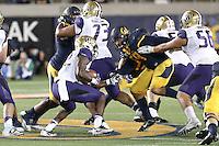 BERKELEY, CA - October 5, 2016: Cal Bears football team vs. Washington Huskies at California Memorial Stadium. Final score, Cal Bears 27, Washington Huskies 66.
