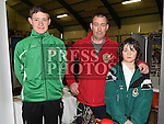 T.A. and Raphael Irwin with instructor Joe Smith from Collon Karate Club pictured at the Enterprise day in Ardee parish centre. Photo:Colin Bell/pressphotos.ie