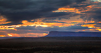 The sun sets on the Southern Utah desert landscape.