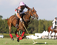 WELLINGTON, FL - FEBRUARY 05:  Facundo Pieres #3 of Orchard Hill controls the ball down the field during one of the early matches of the Ylvisaker Cup at the International Polo Club Palm Beach on February 05, 2017 in Wellington, Florida. (Photo by Liz Lamont/Eclipse Sportswire/Getty Images)