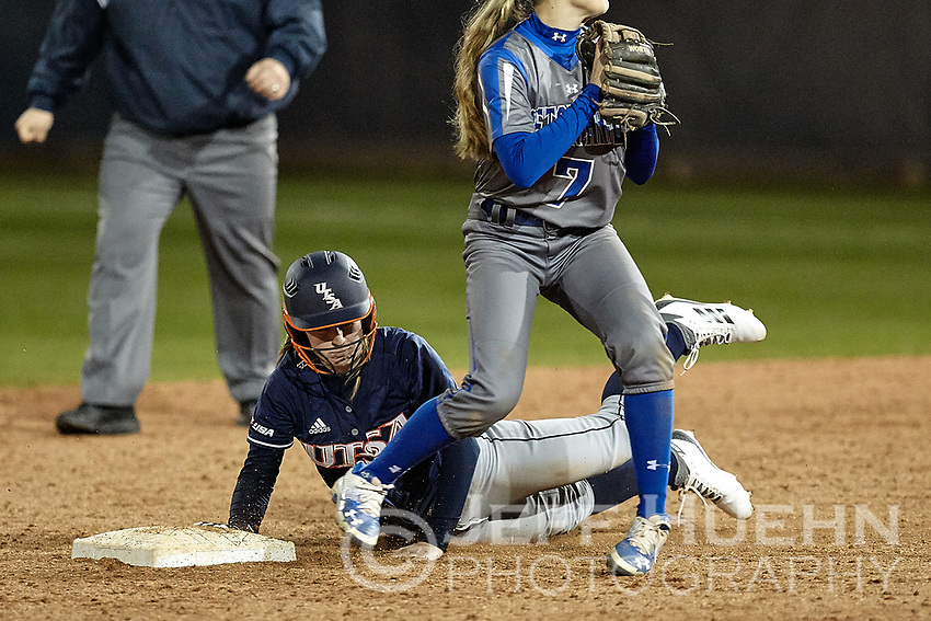 SAN ANTONIO, TX - FEBRUARY 10, 2018: The University of Texas at San Antonio Roadrunners fall to the Seton Hall Pirates 3-1 at Roadrunner Field. (Photo by Jeff Huehn)