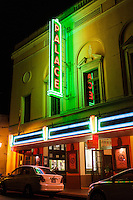 Palace Theatre at night in downtown Hilo, Big Island.