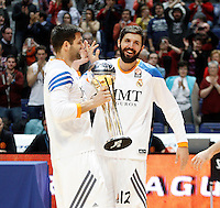 21/02/2014<br /> EUROLEAGUE BASKETBALL<br /> REAL MADRID - ZALGIRIS<br /> 9 FELIPE REYES Power (REAL MADRID)<br /> 12 NIKOLA MIROTIC Power (REAL MADRID)