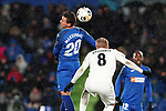 Getafe CF's Nemanja Maksimovic (l) and FC Krasnodar's Yuri Gazinski during UEFA Europa League match. December 12,2019. (ALTERPHOTOS/Acero)