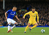17th March 2019, Goodison Park, Liverpool, England; EPL Premier League Football, Everton versus Chelsea; Eden Hazard of Chelsea shields the ball from eve30