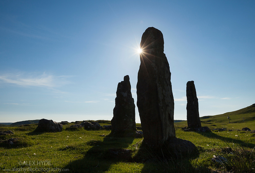 Glengorm stone circle, Isle of Mull, Scotland, UK.