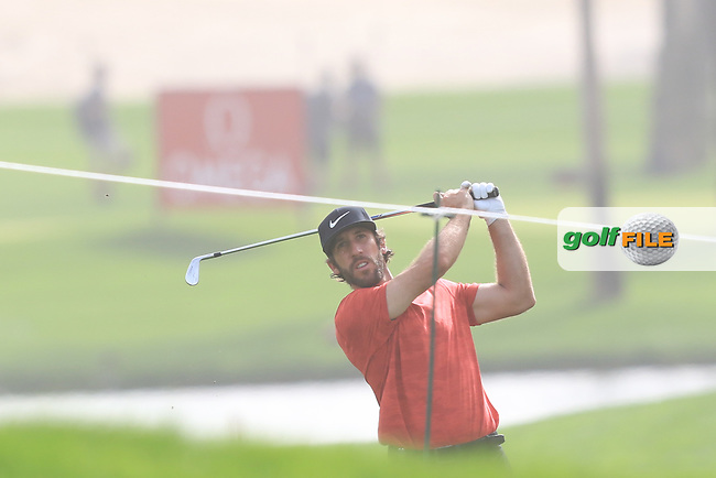 Romain Wattel (FRA) on the 1st during Round 1 of the Omega Dubai Desert Classic, Emirates Golf Club, Dubai,  United Arab Emirates. 24/01/2019<br /> Picture: Golffile | Thos Caffrey<br /> <br /> <br /> All photo usage must carry mandatory copyright credit (© Golffile | Thos Caffrey)