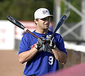 August 16, 2004:  David Corrente of the Auburn Doubledays, Short-Season Single-A affiliate of the Toronto Blue Jays, during a game at Russell Diethrick Park in Jamestown, NY.  Photo by:  Mike Janes/Four Seam Images