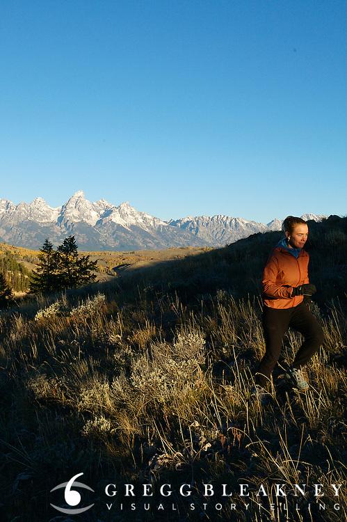 Trail Runner - Grand Teton National Park - Jackson - Wyoming - USA